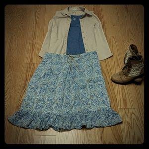 Blue Paisley skirt